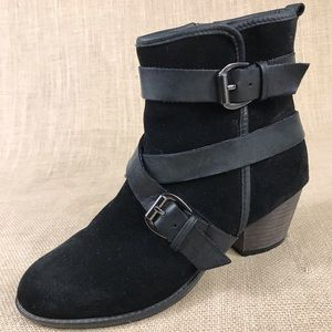 Ankle boots booties ALDO Insulated suede black 6.5